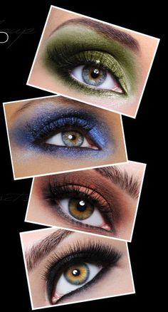eye makeup for green eyes and brown hair - Bing Images