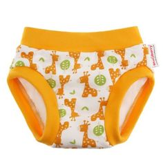 Blueberry Training Pants, Giraffe, Medium by Blueberry. $15.95. These training pants are designed to feel like real underwear for those who are potty training. With an inner lining made with cotton velour, a layer of super-absorbent microterry and a hidden waterproof panel , these training pants will do the job of catching small accidents during the day. These trainers are only partially waterproof and not recommended for use overnight or for naps.
