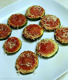 Sugar Free Like Me: Zucchini Mini Pizzas