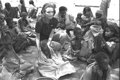 UNICEF Goodwill Ambassador Audrey Hepburn sits amidst severely malnourished children at a UNICEF-assisted feeding centre in the town of Baidoa, Somalia.   Ms. Hepburn completed a four day tour of Somalia and northern Kenya on 24 September, 1992 - to bring world attention to the plight of children there. - © UNICEF/NYHQ1992-1171/Betty Press - Currently, there are over 1 million children in Central and West Africa facing a nutrition crisis. To learn more, please visit: http://www.unicef.org