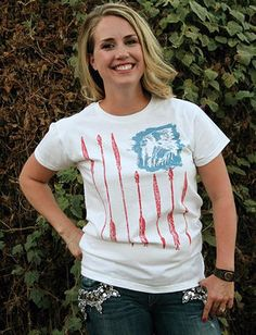 Freedom Flag Ladies Shirt by Original Cowgirl Clothing Co