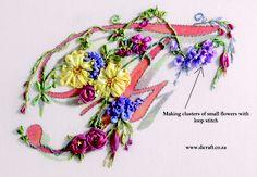 make small ribbon flowers