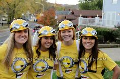 Coolest Despicable Me Minion College Girl's Group Costume... This website is the Pinterest of costumes