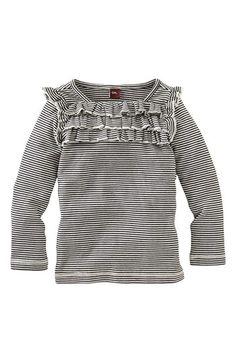 Tea Collection Ruffle Stripe Top (Toddler Girls, Little Girls & Big Girls) | Nordstrom