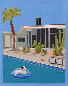 Mid Century Modern Eames Retro Limited Edition by LTillmanArt.