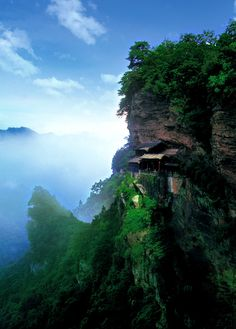 Cliff Temple, Wudang Mountains - China