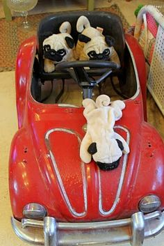 A Volkswagon beetle just for pugs