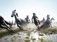 Running with Horse