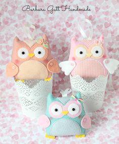 Barbara Handmade...: Big felt owls felt owls
