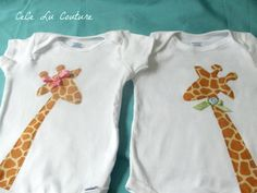 Brother and Sister Twin Giraffe shirts by CeCeLuCouture on Etsy, $32.00