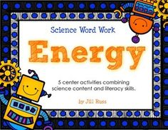 Energy: 5 Word Work Stations combining Science and Literacy. ABC order, syllables, definitions, and two category sorts. Sort words into types of energy, sources of energy, energy measurements, and other words about energy. Sort by renewable/nonrenewable sources of energy.