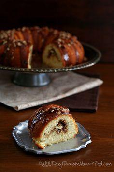 Low Carb Gluten-free Caramel Pecan Coffee Cake