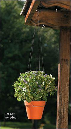 Unobtrusive plant hanger