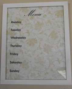 DIY Reusable Meal Plan Board {How To's Day}