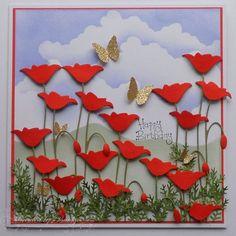 Baukje's lovely Poppy card.