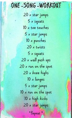 one song workout easy start