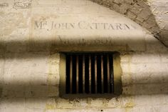 St Alfege Church Crypt, Mr John Cattarns, 1801,     Inside the crypt at St Alfege church in Greenwich