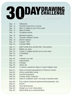 30 Day Drawing Challenge