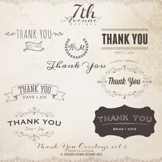 Thank You Overlays vol.2