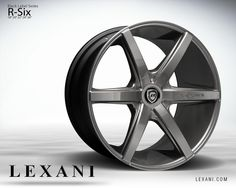 Lexani Wheels, the leader in custom luxury wheels. Wheel Detail - R-Six, part of the Black Label series.