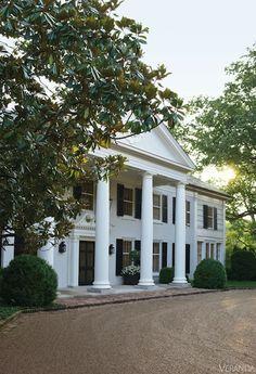 Boxwood Estate Interior Design - David Netto Historic Nashville House - Veranda