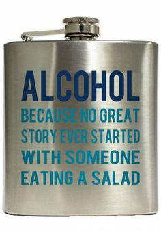 Alcohol Definition Direct Print - Liquid Courage Flasks™