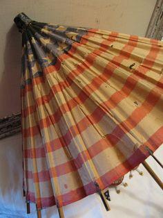 Vintage American Flag Paper Parasol