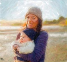 Print my watercolor - watercolor painting made out of your own photo. One of the prizes at the #MomInspirations Twitter party Nov 29 at 9 pm ET.