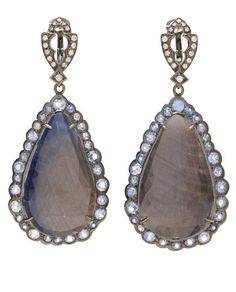 Umba Sapphire and Diamond Tear Drop Earrings by LOREE RODKIN at Browns Fashion for £16,040.00