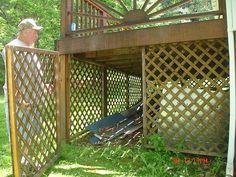 under deck storage ***Repinned by Normoe, the Backyard Guy (#1 backyardguy on Earth) Follow us on; http://twitter.com/backyardguy