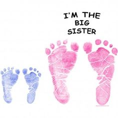 """Big Sister Little Brother Feet, would be really cute for both scrapbooks or even a picture frame to remember how big the """"big sister"""" was when little brother was born."""