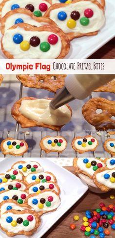 Olympic Flag Chocolate Pretzel Bites | GUBlife: Growing Up Blackxican™