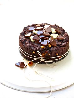 mini hazelnut brownie cake
