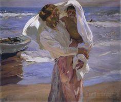 After Bathing, Valencia    Joaquin Sorolla y Bastida