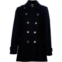 BURBERRY BRIT Double breasted pea coat ($1,160) ❤ liked on Polyvore