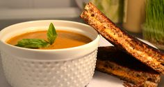 Vegan Classic Creamy Tomato Basil Soup and Vegan Grilled Cheese ... Yummy!!! This blog has so many good healthy recipes.