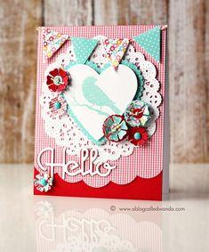 Papertrey Ink Blog July Hop card by Wanda Guess
