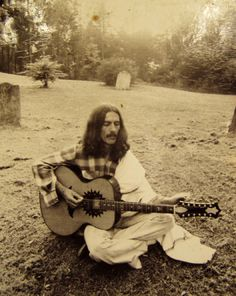 George Harrison with Zemaitis 12 String Acoustic  at Friar Park