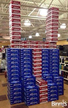 Score big when you shop Binny's this weekend! #football #superbowl #beer #sale