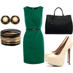 sophisticated emerald green dress.