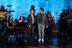 "Josh Groban performed ""I Believe"""