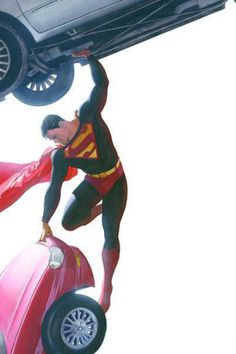 Super Man DC Comic Art