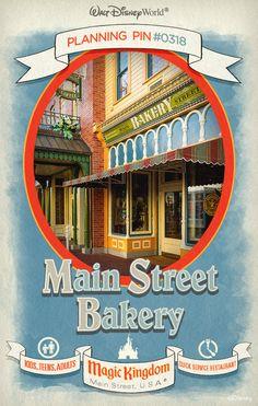 Walt Disney World Planning Pins: Main Street Bakery