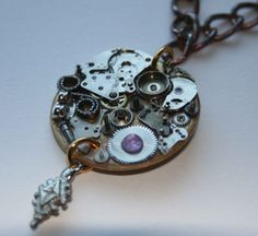 Necklace with purple detailing