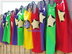 Super Hero Capes  Birthday Party Pack Set of 5 by SpiffyBowtique, $50.00