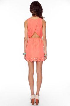 Beady Scalloped Dress ~ TOBI