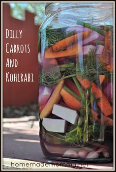 Dilly Carrots and Kohlrabi #fermentedfoods #recipe #probiotics #carrots #kohlrabi #snacks