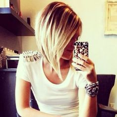 long angl, color, outfit, short hairstyles, bob cuts