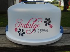 Personalized Cake Carrier. $16.00, via Etsy.