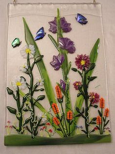 Fused glass flowers @Sue Goldberg Goldberg Goldberg Goldberg H H H Rath
